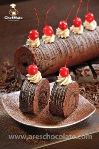 Brownies Kukus Roll