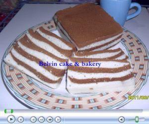 Cake lapis santan moca