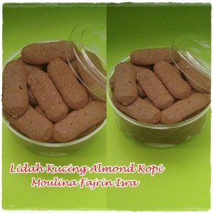 lidah kucing almond kopi by moulina