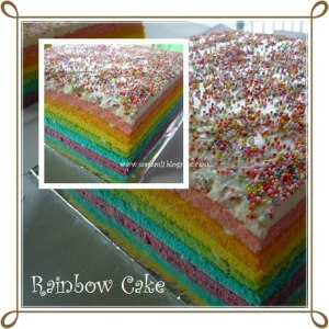 rainbow cake by Juli Mardiyayanti