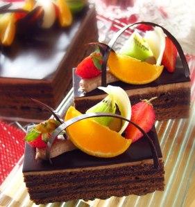 Rum Raisin Truffle Cake