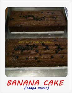 banana cake by Ayoe L Sari