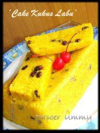 cake labu kukus by Helda