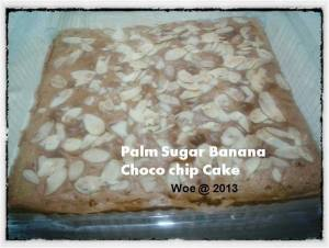 Palm Sugar Banana Choco Chip Cake