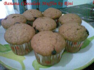banana chocolate muffin by rini anggreini