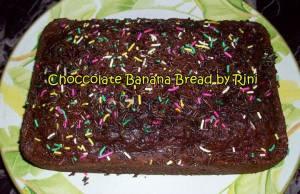Chocolate banana bread by Rini Anggreini