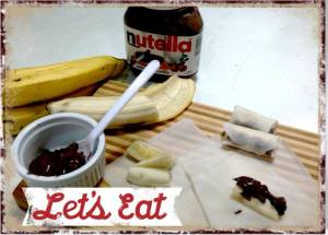 Lumpia Pisang Nutella by Dian Agustin