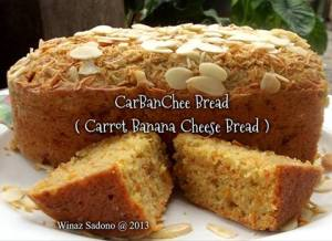 Carrot Banana Cheese Bread by Winaz Sadono